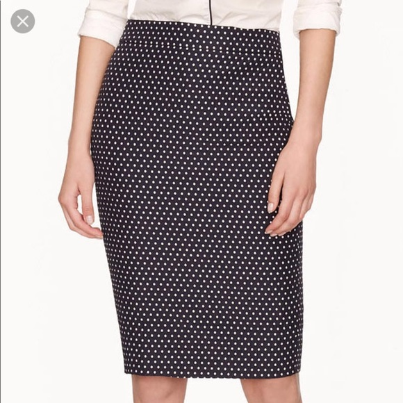 c7d097c0e J. Crew Skirts | J Crew No 2 Pencil Skirt Jacquard Polka Dot | Poshmark